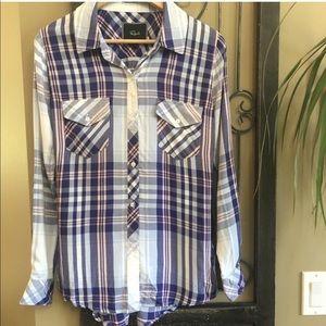 Rails Flannel Hunter Plaid Button Down Long Sleeve